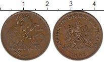 Изображение Монеты Южная Америка Тринидад и Тобаго 5 центов 1992 Бронза XF