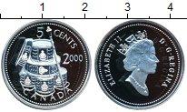 Изображение Монеты Канада 5 центов 2000 Серебро Proof