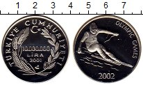 Изображение Монеты Азия Турция 10000000 лир 2001 Серебро Proof-