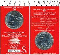 Изображение Монеты США 1 доллар 1983 Серебро UNC Олимпийские игры в Л