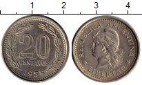 Изображение Монеты Аргентина 20 сентаво 1958 Медно-никель XF