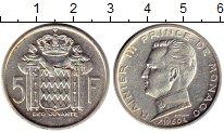 Изображение Монеты Монако 5 франков 1960 Серебро XF