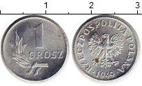 Изображение Монеты Польша 1 грош 1949 Алюминий XF