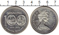 Изображение Монеты Северная Америка Канада 1 доллар 1974 Серебро XF