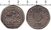 Изображение Монеты Кипр 50 центов 1994 Медно-никель XF Европа