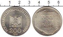 Изображение Монеты Польша 200 злотых 1974 Серебро UNC- 30-летие Польской На
