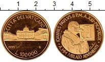 Изображение Монеты Ватикан 100000 лир 1999 Золото Proof-