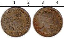 Изображение Монеты Южная Америка Бразилия 100 рейс 1901 Медно-никель XF-