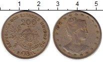 Изображение Монеты Южная Америка Бразилия 200 рейс 1901 Медно-никель XF-