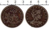 Изображение Монеты Южная Америка Бразилия 400 рейс 1901 Медно-никель XF-