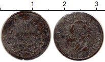 Изображение Монеты Италия 1 сентесим 1867 Бронза VF посеребрение