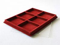 Изображение Аксессуары для монет Другие Пластиковый планшет на 6 ячеек (85х100х16мм) Б 0   Внешний размер планш