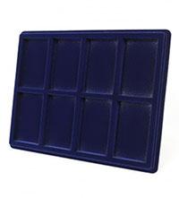 Изображение Аксессуары для монет Другие Пластиковый планшет на 8 ячеек (60х98х17мм) 0   Внешний размер планш