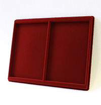 Изображение Аксессуары для монет Другие Пластиковый планшет на 2 ячейки (133х199х10мм) 0   Внешний размер планш