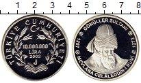 Изображение Монеты Азия Турция 10000000 лир 2002 Серебро Proof