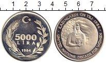 Изображение Монеты Турция 5000 лир 1984 Серебро Proof-