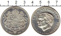 Изображение Монеты Швеция 200 крон 1983 Серебро UNC