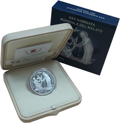 Изображение Подарочные монеты Ватикан 10 евро 2017 Серебро Proof