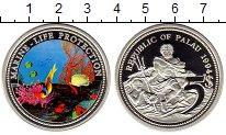Изображение Монеты Палау 5 долларов 1994 Серебро Proof Морская жизнь,рыбы