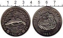 Изображение Монеты Африка Либерия 2 доллара 1983 Медно-никель UNC-