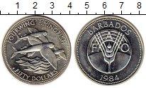 Изображение Монеты Северная Америка Барбадос 50 долларов 1984 Серебро UNC