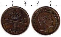 Изображение Монеты Европа Дания 1 ригсбанкскиллинг 1853 Медь XF
