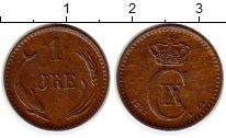 Изображение Монеты Дания 1 эре 1891 Бронза XF Кристиан IХ