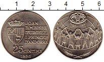 Изображение Монеты Европа Андорра 25 сентим 1995 Медно-никель UNC-