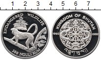 Изображение Монеты Азия Бутан 300 нгултрум 1992 Серебро Proof-