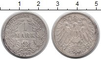 Изображение Монеты Германия 1 марка 1896 Серебро XF-