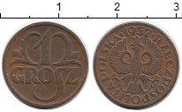 Изображение Монеты Польша 1 грош 1937 Бронза XF