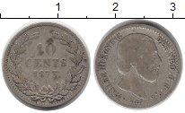 Изображение Монеты Нидерланды 10 центов 1873 Серебро VF