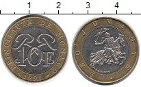 Изображение Монеты Монако 10 франков 1991 Биметалл XF
