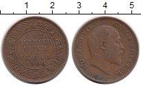 Изображение Монеты Индия 1/4 анны 1906 Бронза XF- Эдуард VII