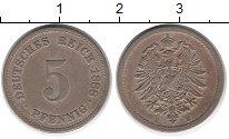 Изображение Монеты Европа Германия 5 пфеннигов 1888 Медно-никель VF
