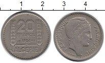 Изображение Монеты Африка Алжир 20 франков 1956 Медно-никель XF