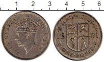 Изображение Монеты Маврикий 1 рупия 1951 Медно-никель XF Георг VI