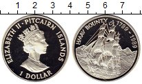 Изображение Монеты Великобритания Острова Питкэрн 1 доллар 1989 Серебро Proof