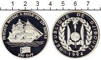Изображение Монеты Африка Джибути 100 франков 1994 Серебро Proof