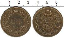 Изображение Монеты Южная Америка Перу 1 соль 1962 Латунь XF