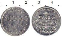 Изображение Монеты Гамбург 200000 марок 1923 Алюминий XF J