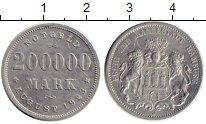Изображение Монеты Германия Гамбург 200000 марок 1923 Алюминий XF