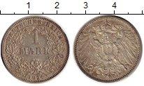 Изображение Монеты Германия 1 марка 1914 Серебро XF J