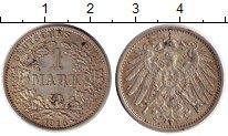 Изображение Монеты Германия 1 марка 1915 Серебро XF A