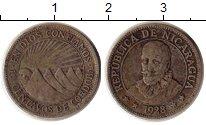 Изображение Монеты Никарагуа 10 сентаво 1928 Серебро VF