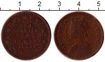Изображение Монеты Индия 1/4 анны 1862 Медь XF