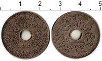 Изображение Монеты Африка Тунис 25 сантим 1919 Медно-никель VF