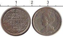 Изображение Монеты Европа Нидерланды 25 центов 1925 Серебро VF