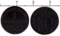 Изображение Монеты Германия Пруссия 1 пфенниг 1825 Медь XF