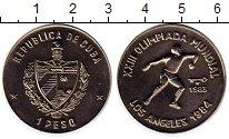 Изображение Монеты Куба 1 песо 1983 Медно-никель UNC- Олимпийские игры в Л